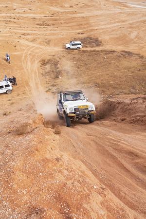 BEER-SHEVAISRAEL - 23 NOVEMBER 2013: Amateur race in the desert, summer day. 23 november Israel.