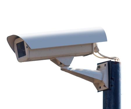 nightvision: surveillance Camera, isolated white background Stock Photo