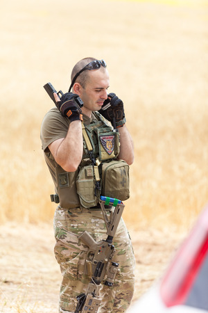 the occupant: BEER-SHEVA ISRAEL - 26 April 2014  Amateur sports competition warriors soldiers  26 april 2014