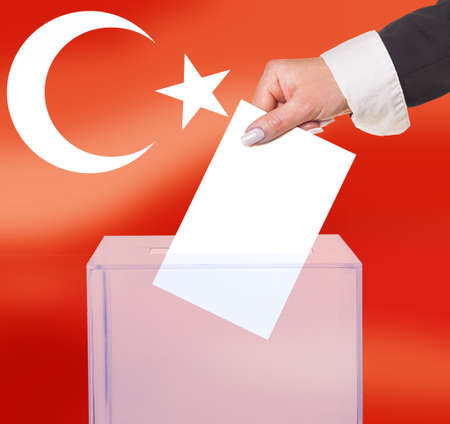 legitimate: electoral vote by ballot, under the Turkey flag
