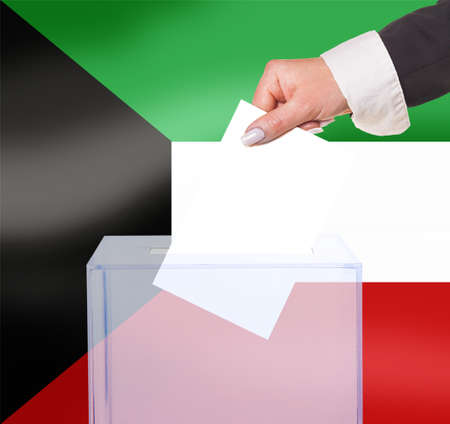 legitimate: electoral vote by ballot, under the Kuwait flag