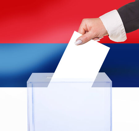 legitimate: electoral vote by ballot, under the Serbia flag