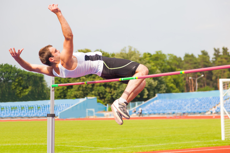 mens high jump, sports background