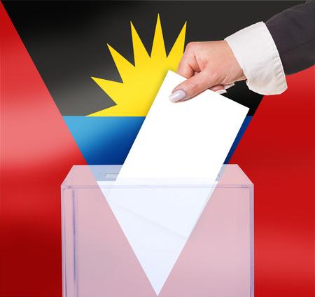 electoral: electoral vote by ballot, under the Antigua and Barbuda flag