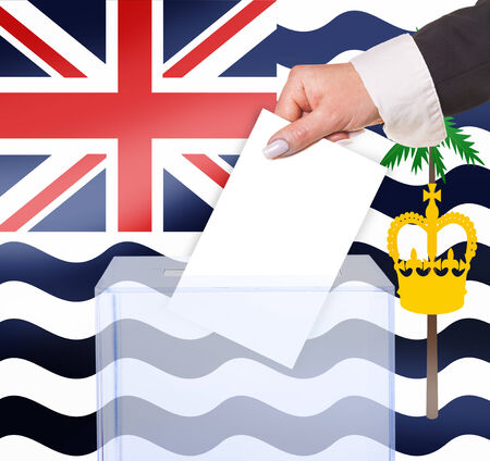 brit: electoral vote by ballot, under the Brit ind Ocean Ter flag