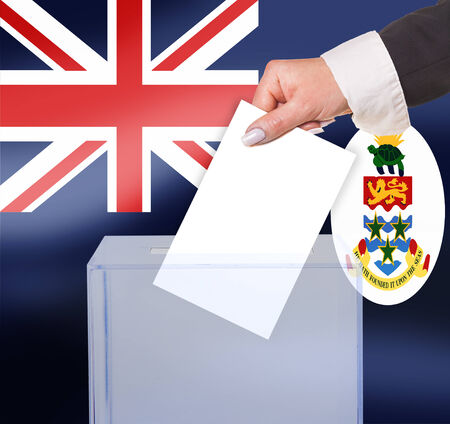 legitimate: electoral vote by ballot, under the Cayman Islands flag