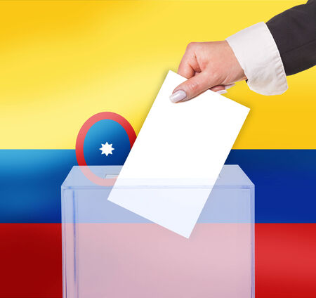 legitimate: electoral vote by ballot, under the Colombia flag