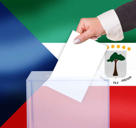 electoral: electoral vote by ballot, under the  flag Stock Photo