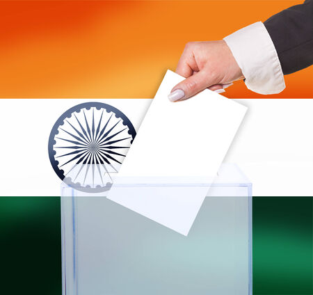 electoral: electoral vote by ballot, under the India flag