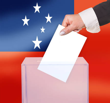 electoral: electoral vote by ballot, under the Western Samoa  flag