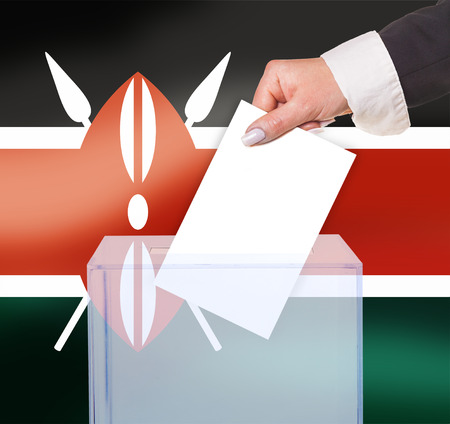 electoral vote by ballot, under the Kenya flag photo