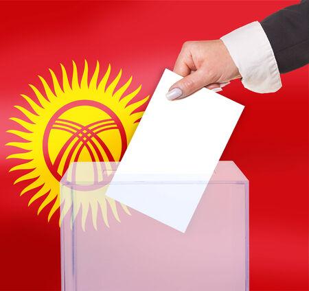 electoral: electoral vote by ballot, under the Kyrgyzstan flag