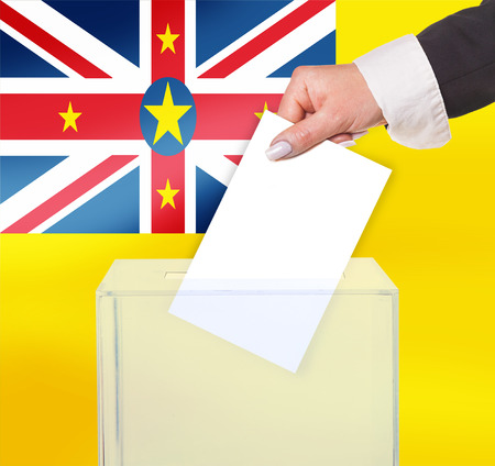 electoral: electoral vote by ballot, under the Niue flag