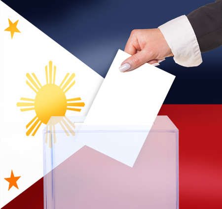 electoral vote by ballot, under the Philippines flag photo