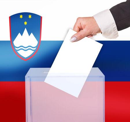 electoral: electoral vote by ballot, under the Slovenia flag