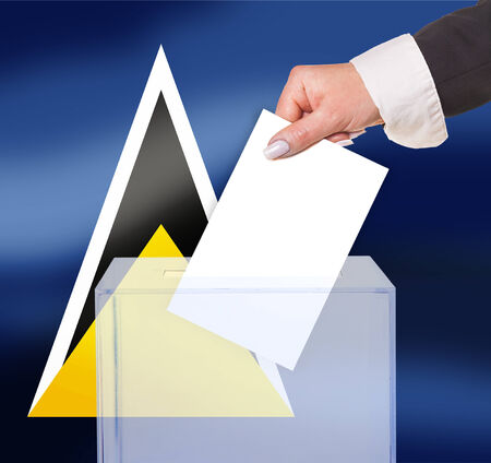 electoral: electoral vote by ballot, under the St.Lucia flag