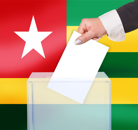 electoral vote by ballot, under the Togo  flag photo
