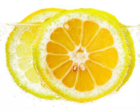 vesicles: lemon slices in vesicles isolated white background