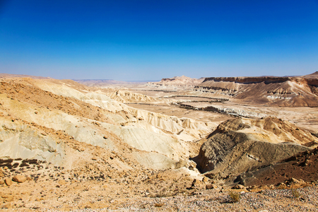 negev: Negev desert landscape sunny summer day Stock Photo