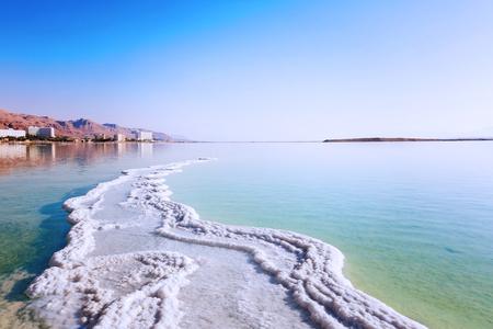 Landschaft Toten Meer Küste im sonnigen Tag