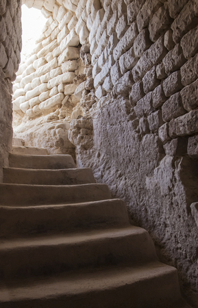 ancient stone building with staircase Cretaceous photo