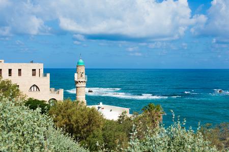 Mosque in Jaffa on the Mediterranean coast photo