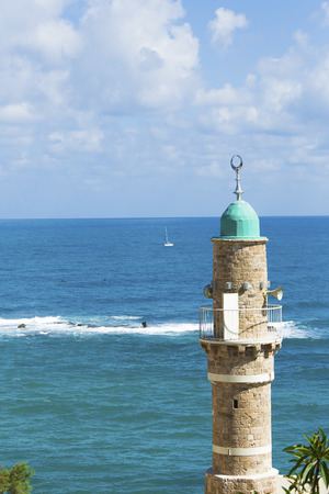 dome of a mosque in Jaffa on the coast photo