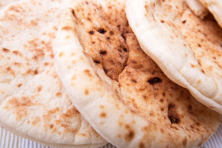 mouthwatering: background of the three mouthwatering pita closeup