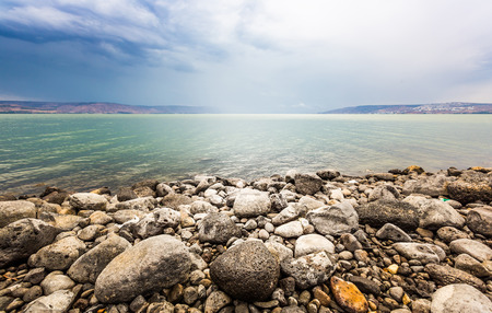 Sea of Galilee landscape in summer day Stock Photo