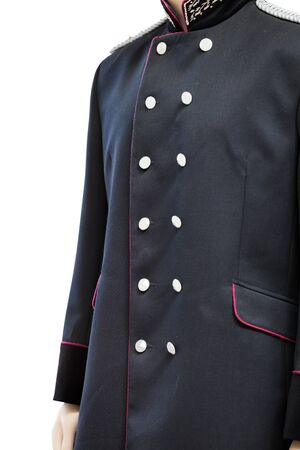 greatcoat: Mannequin in the old railway worker uniforms Stock Photo