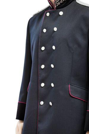 greatcoat: Mannequin in the old railway worker uniforms Stock Photo