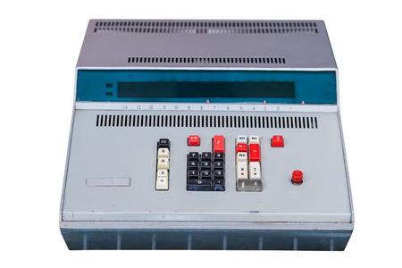 computing machine: Vintage computing machine isolated on a white