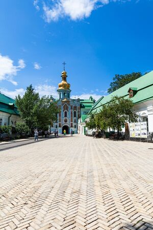 lavra: view of the ancient Kiev Pechersk Lavra Editorial