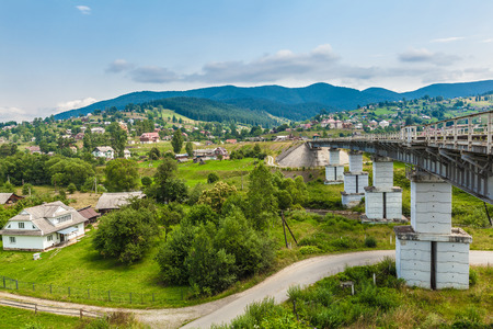 Rural mountain landscape of the Montenegrin ridge in Carpathians