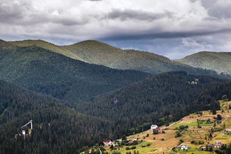 Rural landscape of the Montenegrin ridge in Carpathians Stock Photo