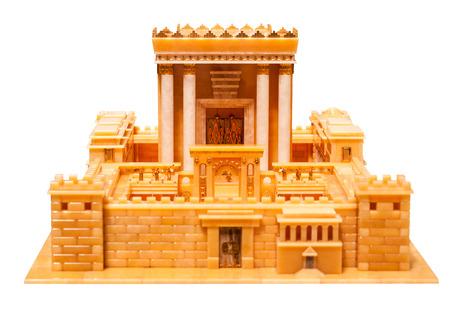 templo: parte del templo de Herodes aislado en un fondo blanco Foto de archivo