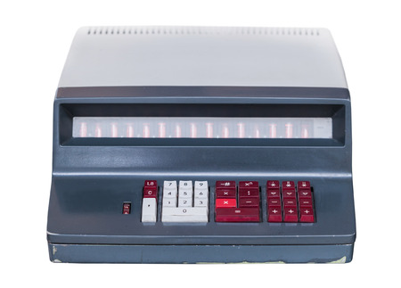 computing machine: vintage computing machine isolated on a white background