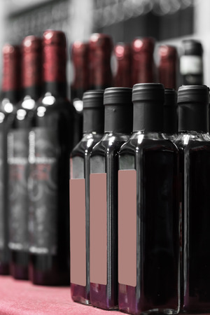 conveyors: bottles of wine ready on the conveyor Stock Photo