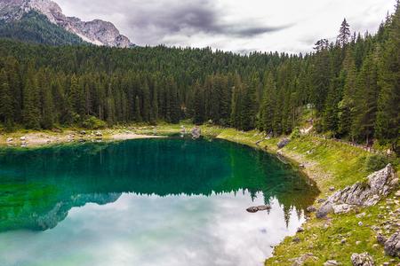 lake misurina: landscape the wild nature lake Misurina in the Alps Stock Photo