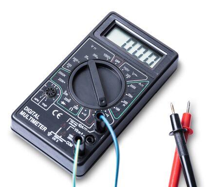 hardware tools: electronic measuring tool isolated on white background