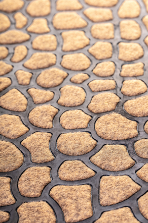 texture of foot mats with abstract pattern