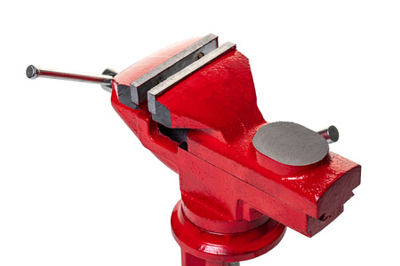 new vise closeup on white isolated background