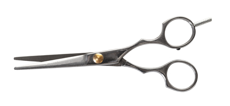 new hairdresser scissors on white isolated background