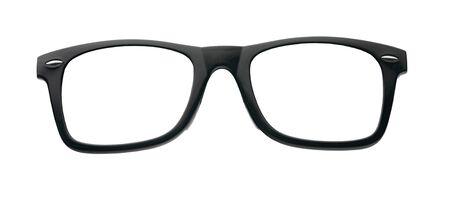 glasses in black frame isolated on a white background 版權商用圖片