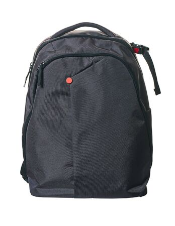 new backpack closeup isolated on a white background Foto de archivo
