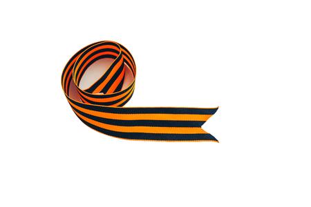 orange and black striped ribbon symbol on May 9