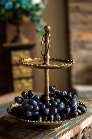 two tier stand with fruits