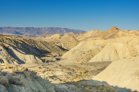 Andalusia desert. Desert landscape in the Cabo de Gata national park in Andalusia
