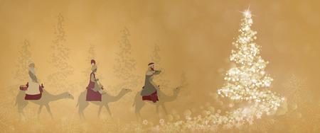 Christmas greeting card design concept. Vettoriali