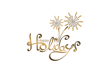 Happy Holidays banner. Illustration